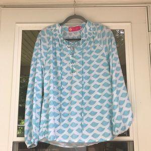 Teal boutique shirt